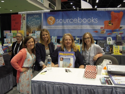 American Library Association Annual Conference, McCormick Place, Chicago, Illinois: Denise in the Sourcebooks booth